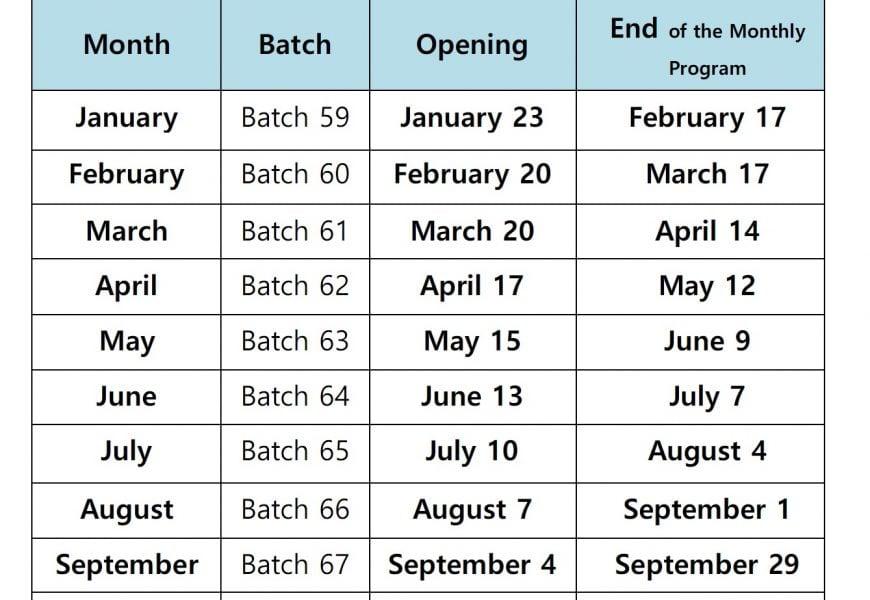 Lịch khai giảng các lớp IELTS, TOEIC năm 2017 của Trường CIA – Cebu