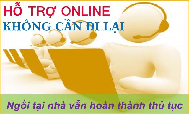 Hỗ trợ online, không cần đi lại