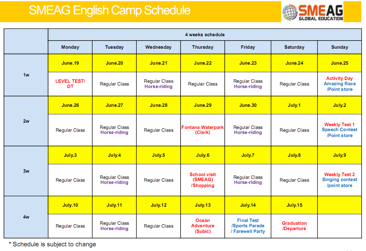 smeag-summer-camp-schedule-2017
