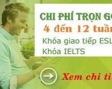 Chi phí trọn gói du học Philippines 1-3 tháng khóa giao tiếp ESL và IELTS đảm bảo điểm