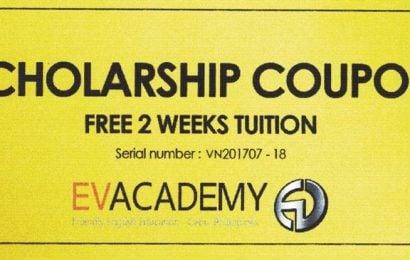20 coupon giảm 2 tuần học phí từ các trường hàng đầu tại Cebu và Baguio