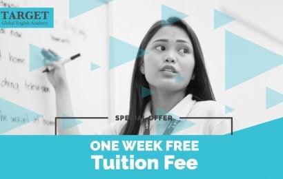 Trường Target: miễn 1 tuần HP + KTX khi học khóa 8 tuần