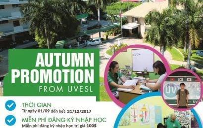 Trường UV: học bổng ưu đãi 100 đến 800 USD dịp cuối năm