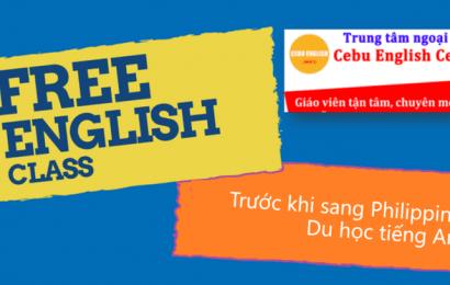 Duy nhất tại MICE: Học tiếng Anh miễn phí tại Cebu English Center trước khi sang Philippines du học