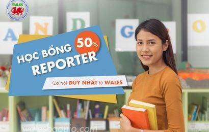 Học bổng Student Reporter tại Wales: miễn 50% học phí + KTX