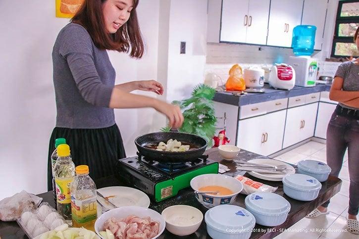 BECI cơ sở cho nữ the Lady Campus: lớp học nấu ăn hấp dẫn và bổ ích