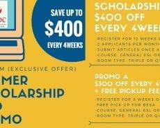 Trường A&J: ưu đãi hấp dẫn đến cuối 2018: Giảm đến 300 USD/ tháng