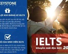 Keystone: IELTS 12 tuần miễn 4 tuần học phí và ăn ở ký túc xá, chỉ khoảng 3.750 USD