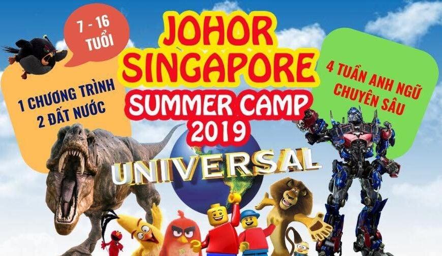 Trại hè English Summer Camp 2019 tại Singapore và Malaysia chỉ 3.300 USD