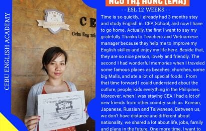 Hưng – CEA: they help me to improve my English skills and enjoy my life here