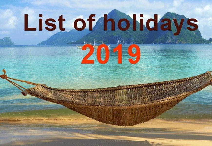 Lịch nghỉ lễ ở Philippines năm 2019 du học sinh cần biết