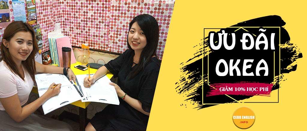 Học bổng 10% chi phí du học philippines trường OKEA
