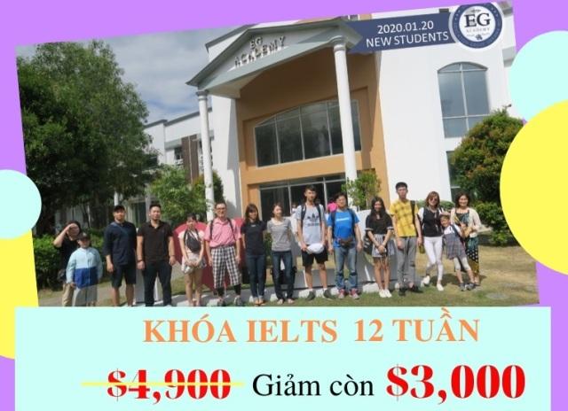 Trường EG IELTS 12 tuần 3000 USD